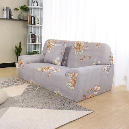 Floral Sofa Cover Stretch Thick 4 Seater Slipcover Couch Cover #F 92