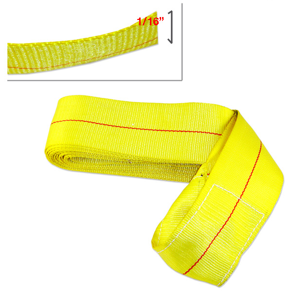 "4"" X 25 Foot Cargo Loop Heavy Duty 10,000 Pound Strap Cargo Hauling Tie Down"
