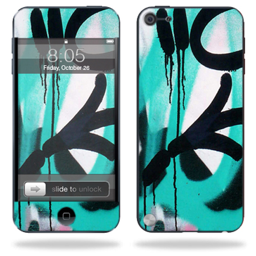 Mightyskins Protective Skin Decal Cover for Apple iPod Touch 5G (5th generation) MP3 Player wrap sticker skins Graffiti Tagz