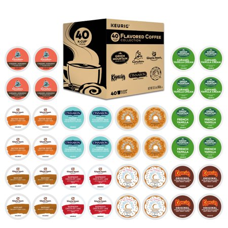Keurig Flavored Coffee Collection Single-Serve K-Cup Pods Variety Pack, 40 Count