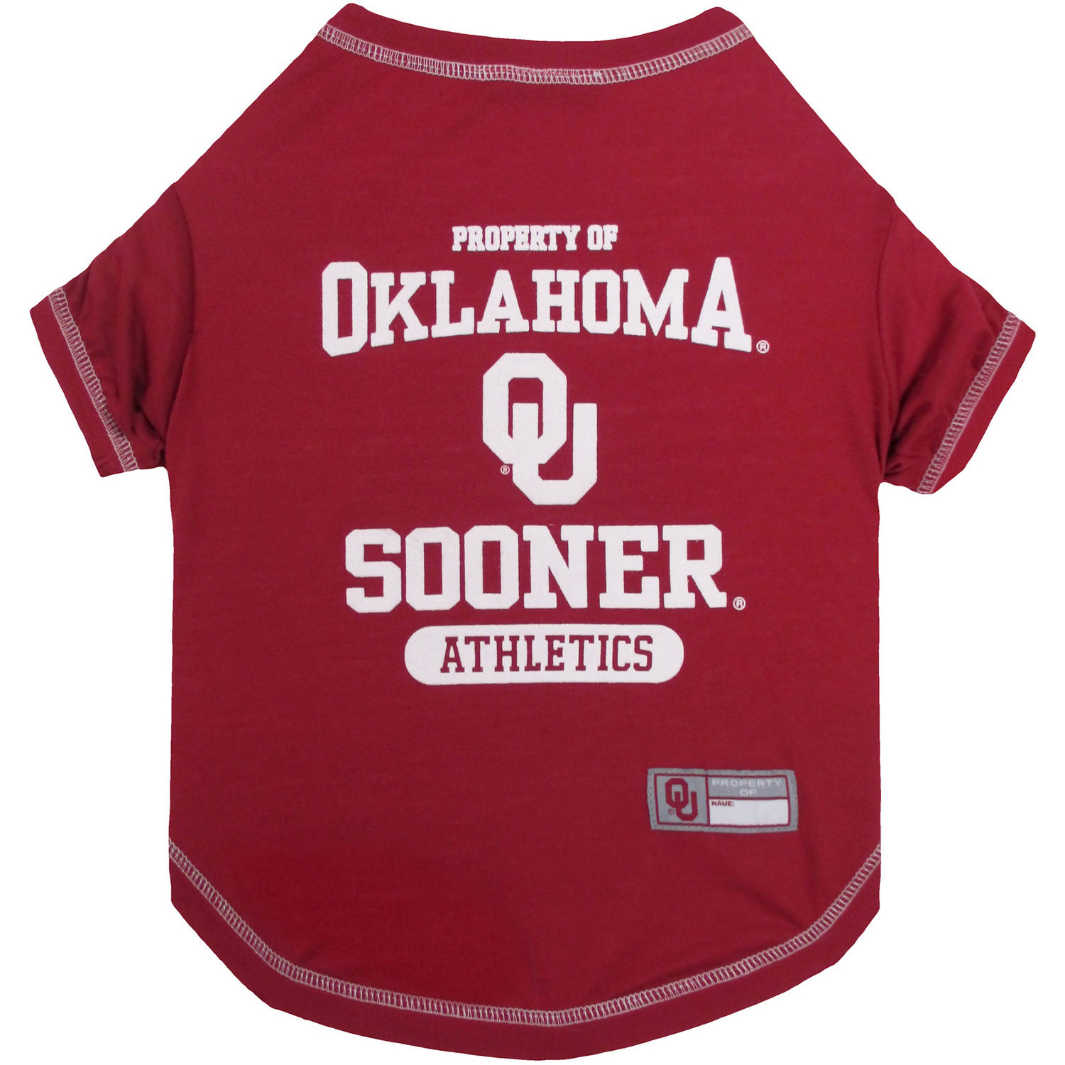 Pets First Collegiate Oklahoma Sooners Pet T-shirt, Assorted Sizes