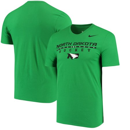 North Dakota Nike Center Line Hockey T-Shirt - Green