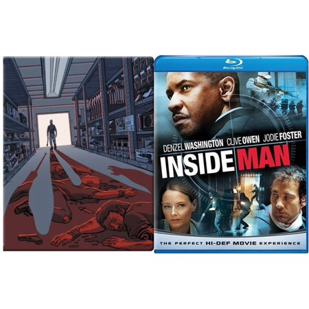The Equalizer Steelbook Blu Ray   The Inside Man Blu Ray   Dvd 2 Pack Denzel Washington Double Feature Exclusive Bundle Action Movie Set