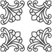 Brewster Home Fashions 99769 Medici Corners - Stained Glass Applique