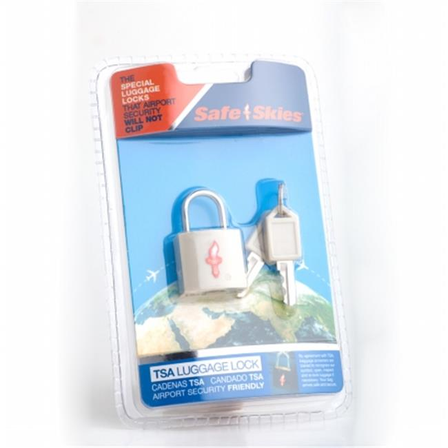 Safe Skies No. 203b TSA-Approved padlock single-pack - Light Grey
