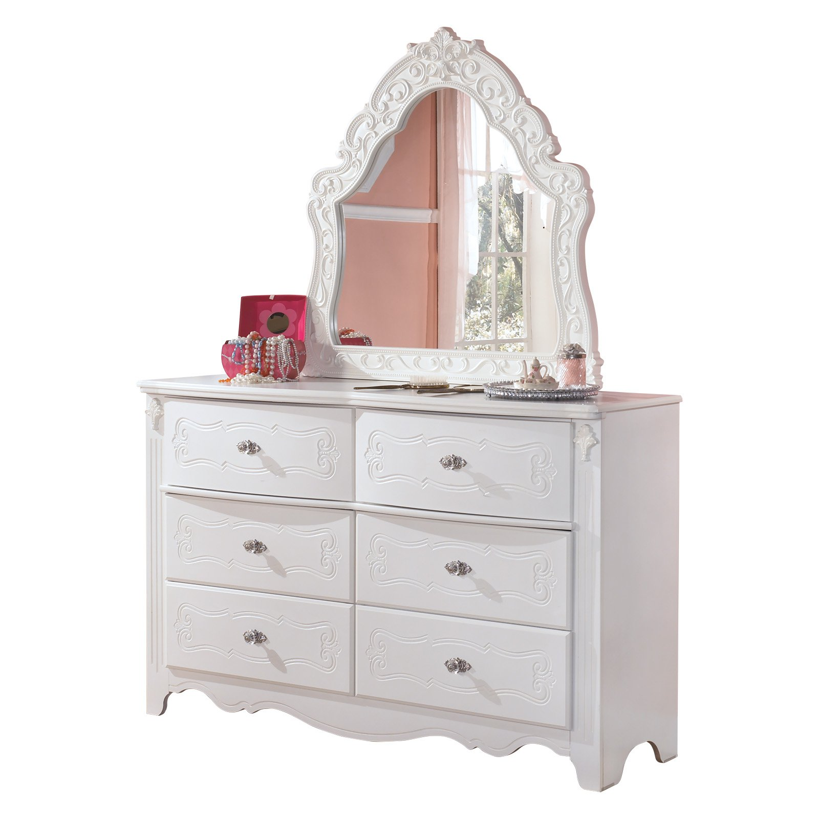Signature Design by Ashley Exquisite 6 Drawer Dresser with Mirror