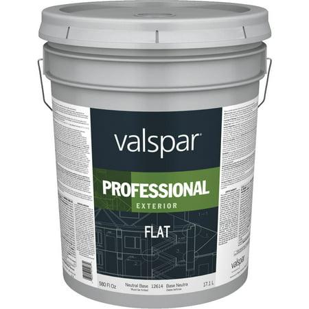 Valspar professional 100 acrylic flat exterior house paint for Lucite exterior paint