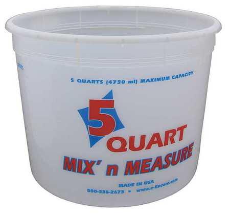 ENCORE PLASTICS 81166 Paint Mix And Measure Cont., 5 qt, Plastic