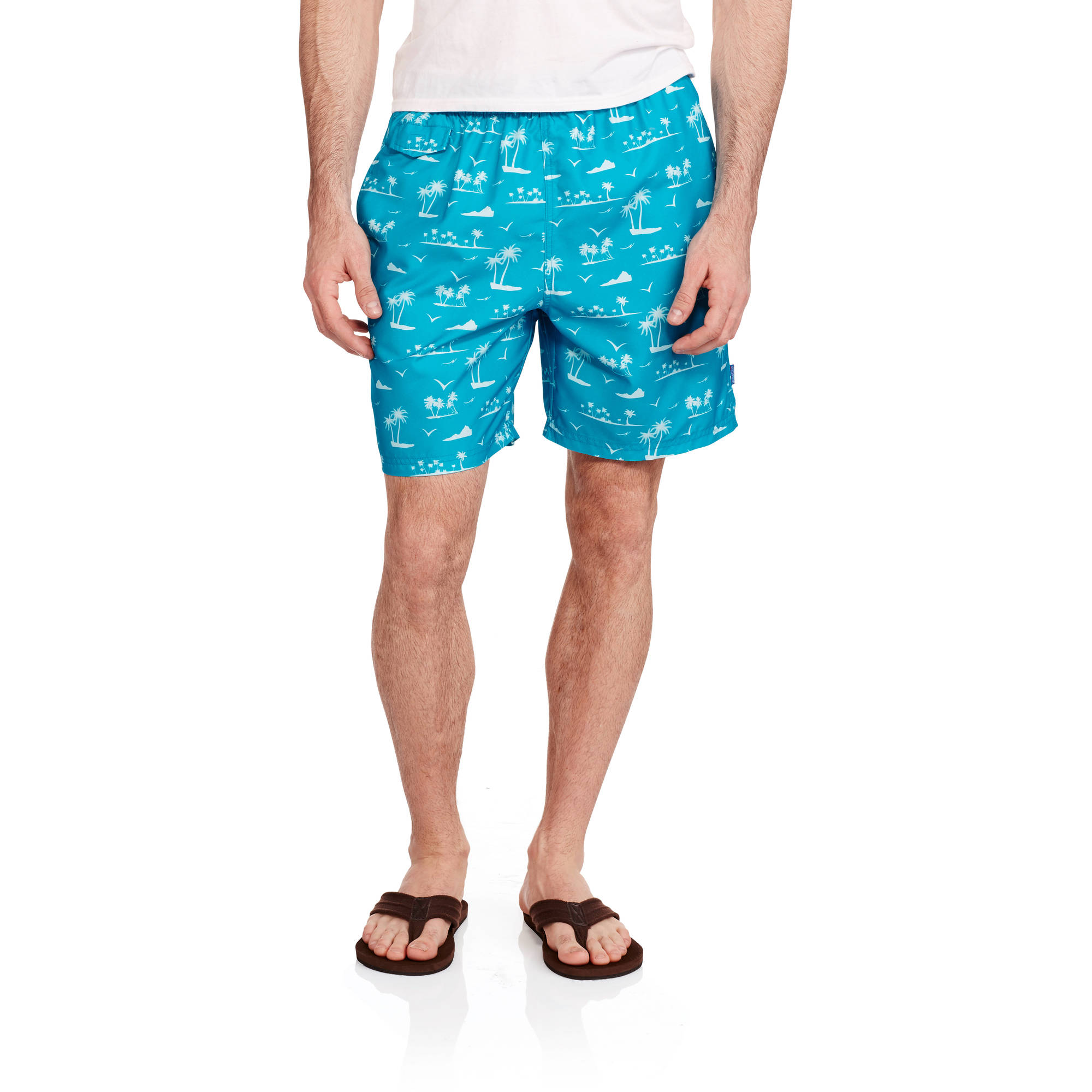 by Catalina Men's Palm Trees Swim Trunks