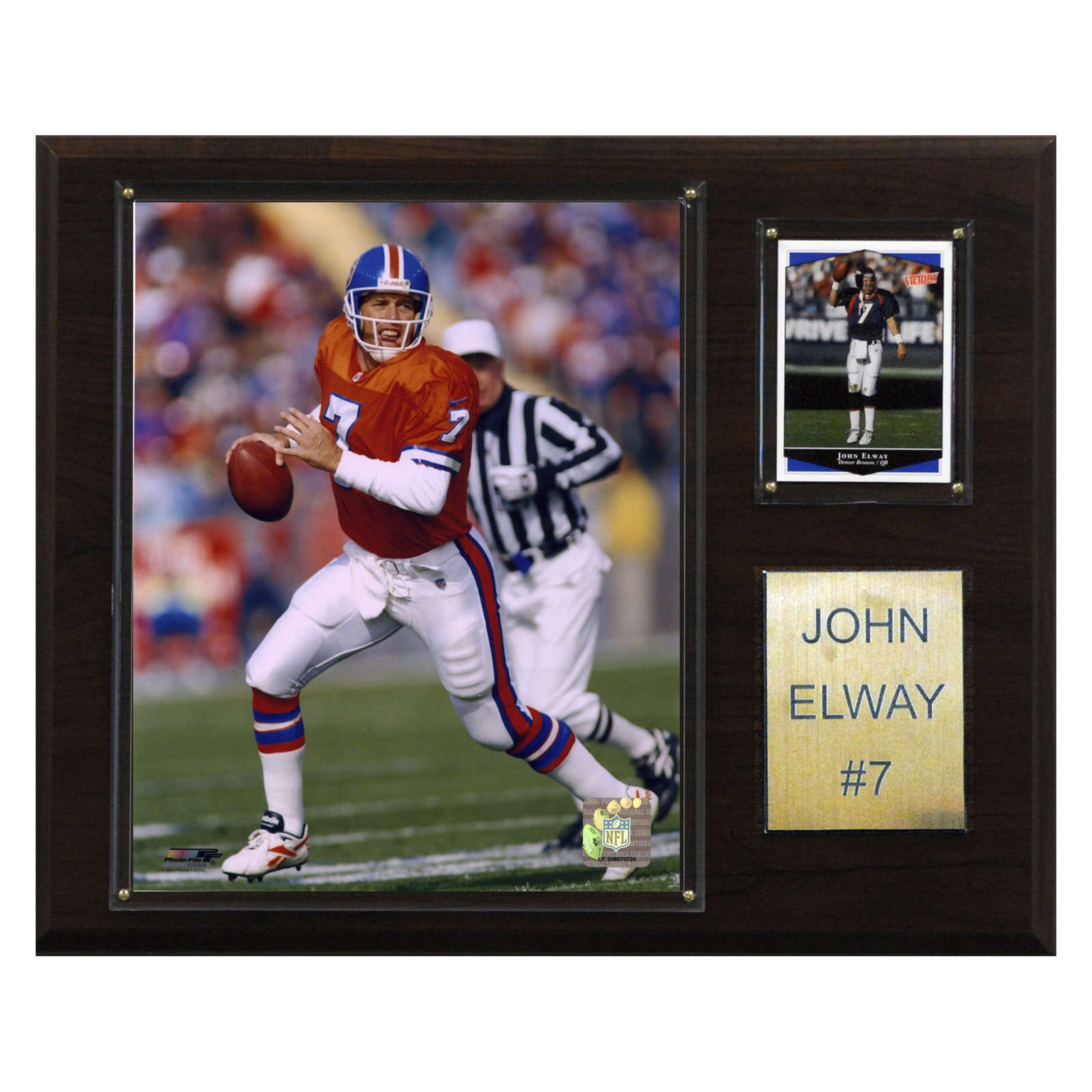 C&I Collectables NFL 12x15 John Elway Denver Broncos Player Plaque