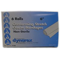 Conform Stretch Gauze Bandages  Non Sterile 6 Inches X 4 1 Yards   6 Rolls