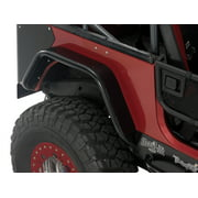 Warrior Products S7312 Tube Fender Flares; Rear; Smooth Black Steel;