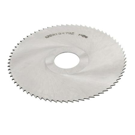 Tenons en acier rapide HSS 72 dents Lame de scie circulaire 125 mm x 1.2 mm x 27 mm outil de coupe - image 2 de 2