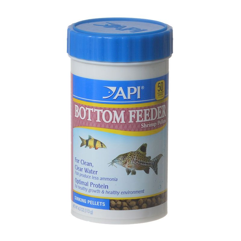API Bottom Feeder Premium Shrimp Pellet Food 4 oz - Pack of 2
