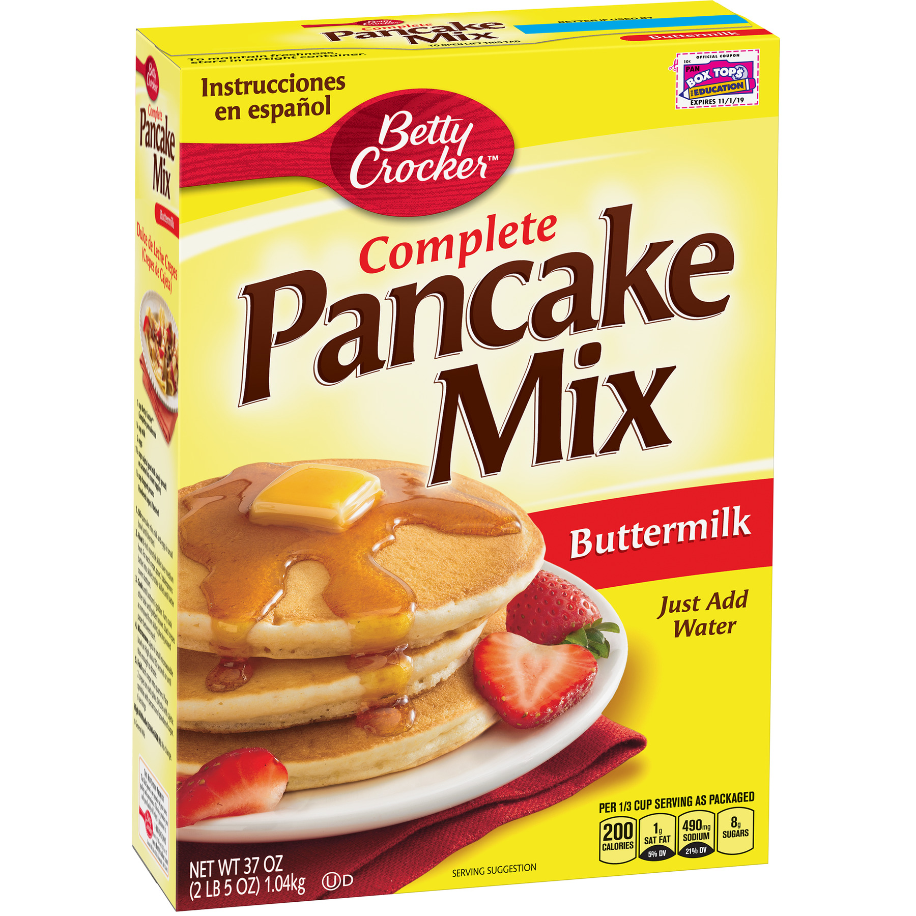 Bisquick Baking Mix Complete Pancake Mix Buttermilk 37 Oz Walmart