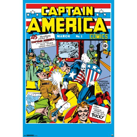 Trends International Captain America Comics #1 Collector's Edition Wall Poster 24