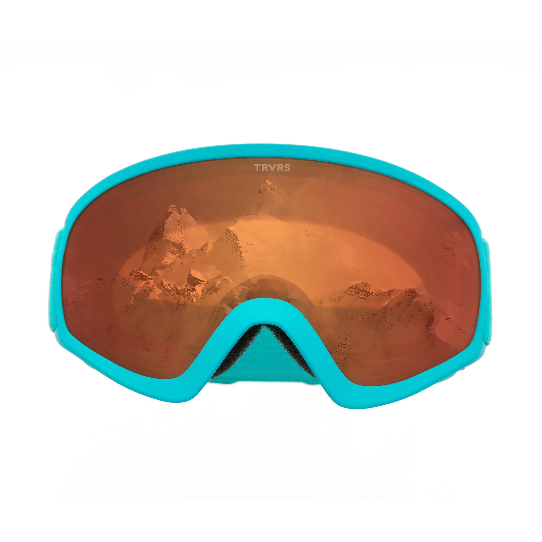 Traverse Iris Youth Ski, Snowboard, and Snowmobile Goggles, Tangerine & Teal