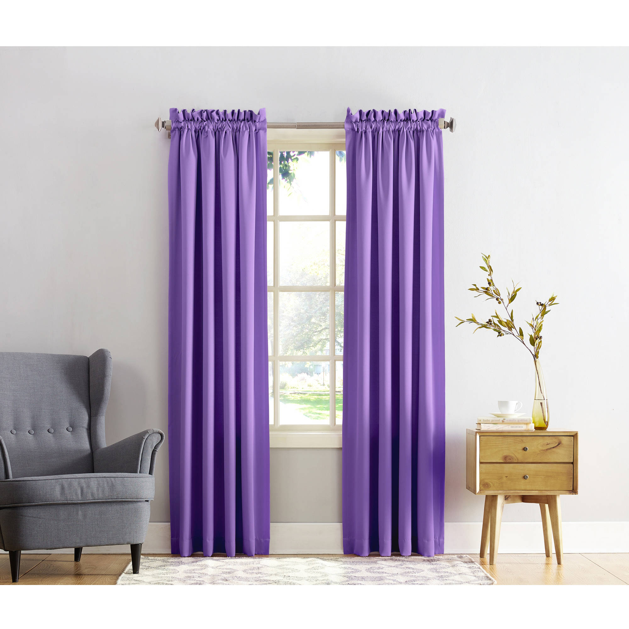 Better Homes and Gardens Crushed Room Darkening Curtain Panel - Walmart.com