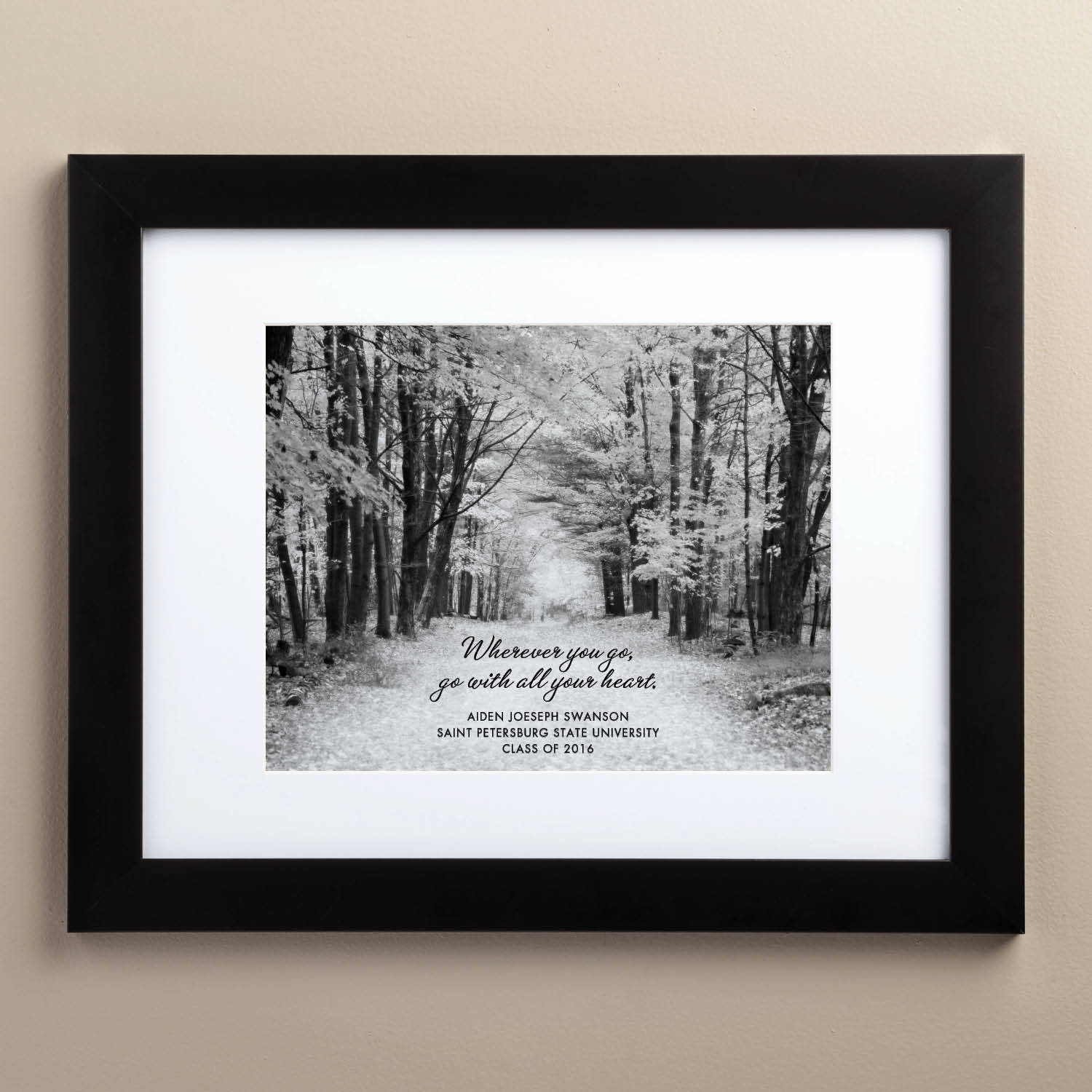 "Personalized The Path 11"" x 14"" Framed Graduation Print"