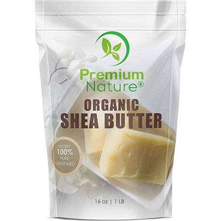 Shea Butter Raw Organic Unrefined Shea Butter Organic 100% Pure Raw Unrefined Natural Shea Butter for Hair Stretch Marks Eczema Dry Skin LipBalm Skin Care 1 LB