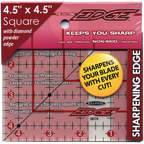"Sullivans The Cutting EDGE Frosted Ruler, 4-1/2"" x 4-1/2"""