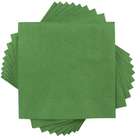 JAM Paper Medium Lunch Napkins - 6 1/2 x 6 1/2 - Green - 50/Pack
