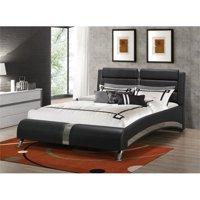 Bowery Hill Upholstered Queen Modern Bed in Black