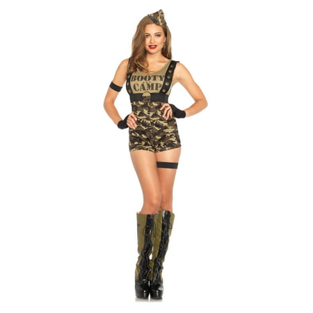 Leg Avenue Women's Sexy Booty Camp Cutie Army Costume