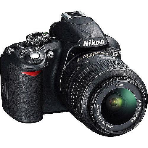 """Nikon D3100 14.2MP DSLR Camera with 18-55mm VR Lens, 3"""" LCD, HD Video"""