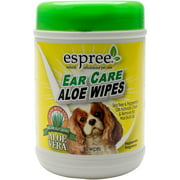 Espree Natural Ear Care Aloe Wipes For Dogs 60/Pkg-Peppermint