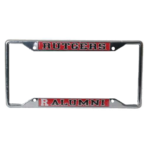 Rutgers Scarlet Knights Alumni Metal License Plate Frame W/domed Insert