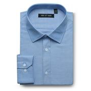 Men's Dress Shirt Big & Tall Classic Fit Solid Long Sleeve Oxford Dress Shirt