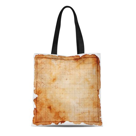ASHLEIGH Canvas Tote Bag Game Blank Pirate Treasure Map Abstract Age Aged Antique Durable Reusable Shopping Shoulder Grocery Bag](Pirate Treasure Map Game)