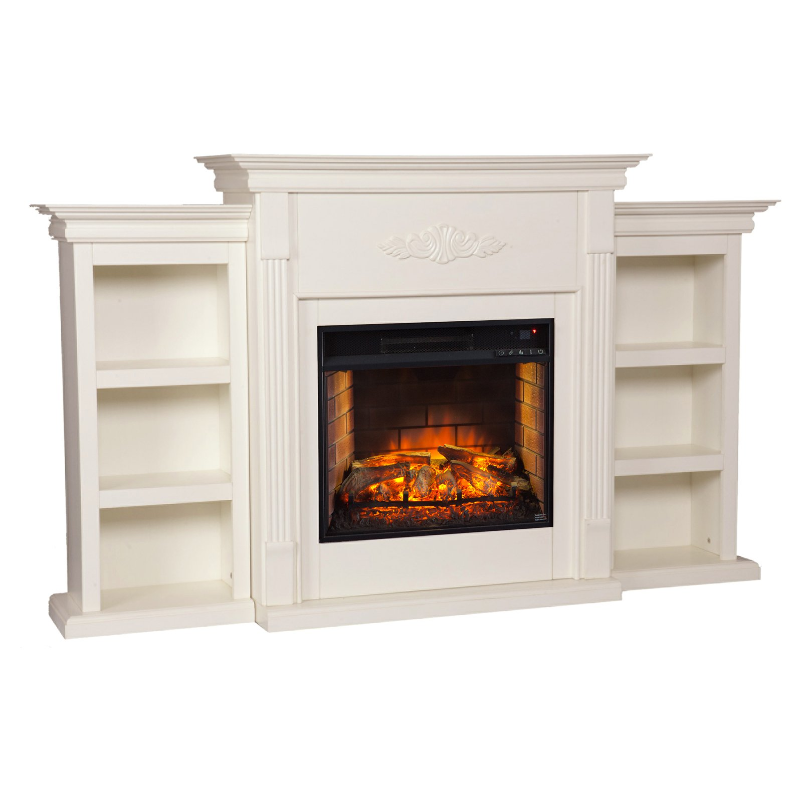 Southern Enterprises Tennyson Infrared Electric Fireplace with Bookcase by Southern Enterprises