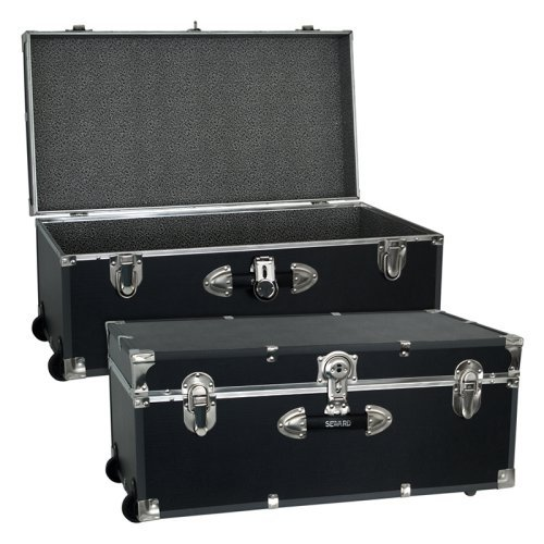 Locking Trunk with Wheels-Black