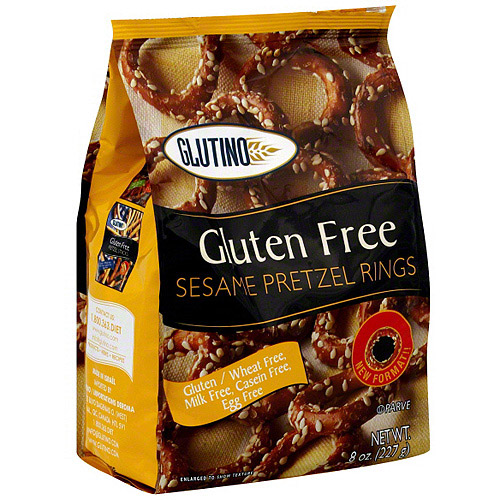 Glutino Sesame Pretzel Rings, 8 oz (Pack of 12)