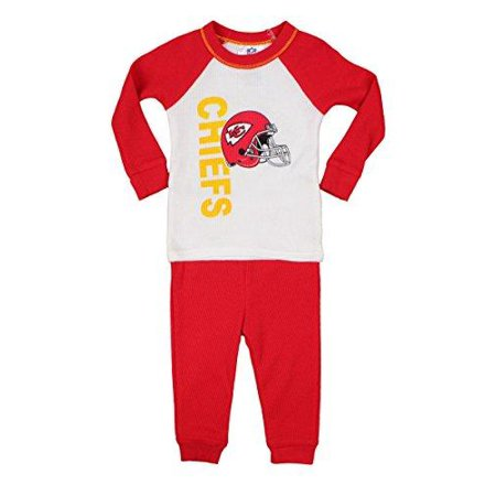 Kansas City Chiefs NFL Infants / Toddler Thermal Sleepwear Pajama Set, Red - Pajama City Promo Code