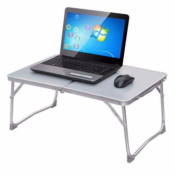 Topeakmart Portable Adjustable Aluminum Laptop Desk/Stand/Table Notebook TV Bed Lap Standing Tray