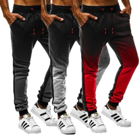 Men Sport Pants Long Trousers Tracksuit Fitness Workout Jogger Gym