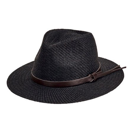 5d5bf8f2bd9 San Diego Hat Company - Men s San Diego Hat Company Faux Leather Band Cut  and Sew Paper Fedora CTH3561 - Walmart.com