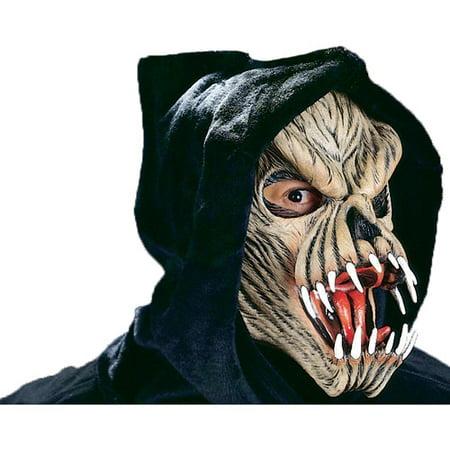Face Art Halloween Man (Fang Face Male Halloween Adult Latex)
