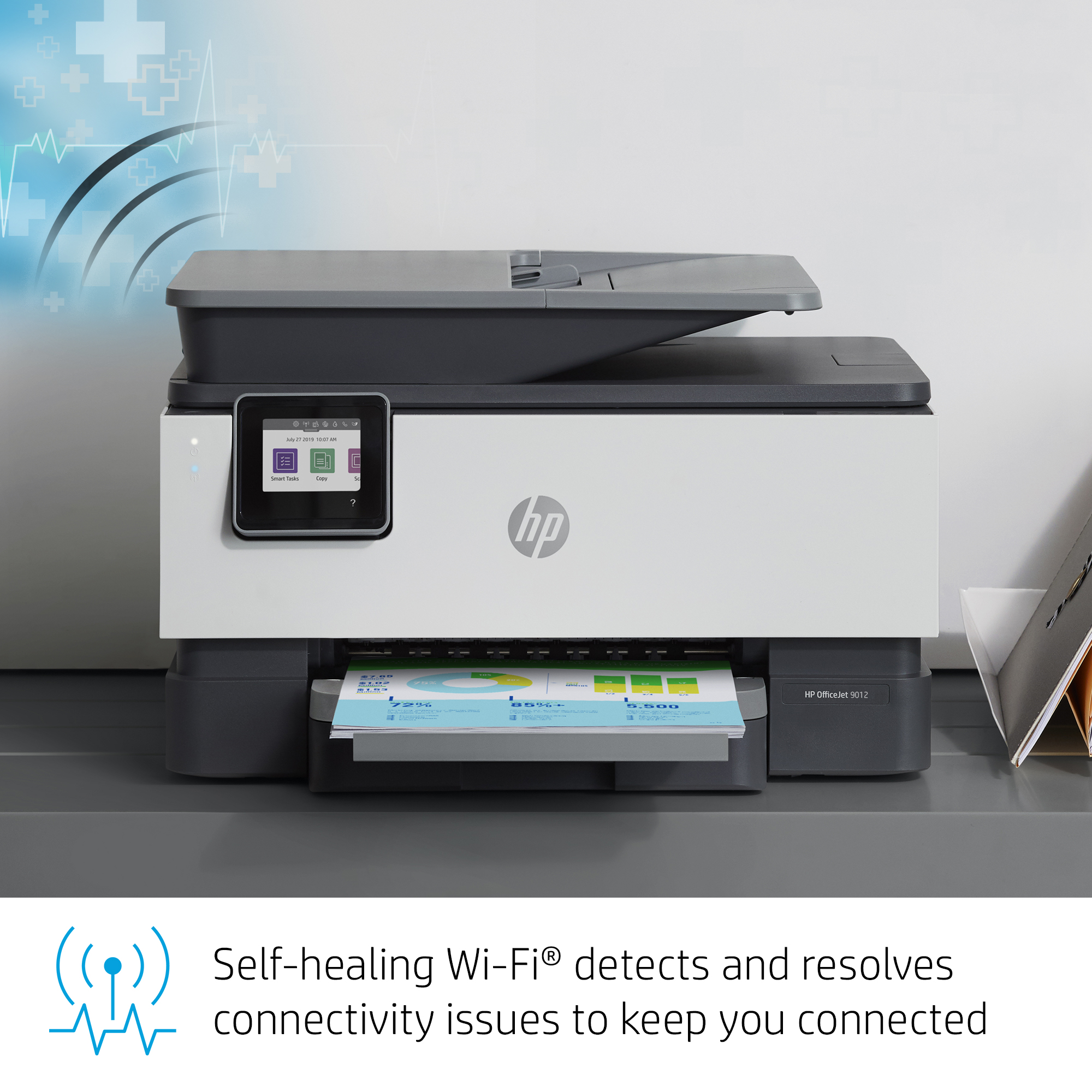 image relating to Inkjet Printable Vinyl Walmart named HP OfficeJet 9012 All-inside of-A person Wi-fi Printer, with Good Jobs for Wise Business Productiveness (1KR44A)