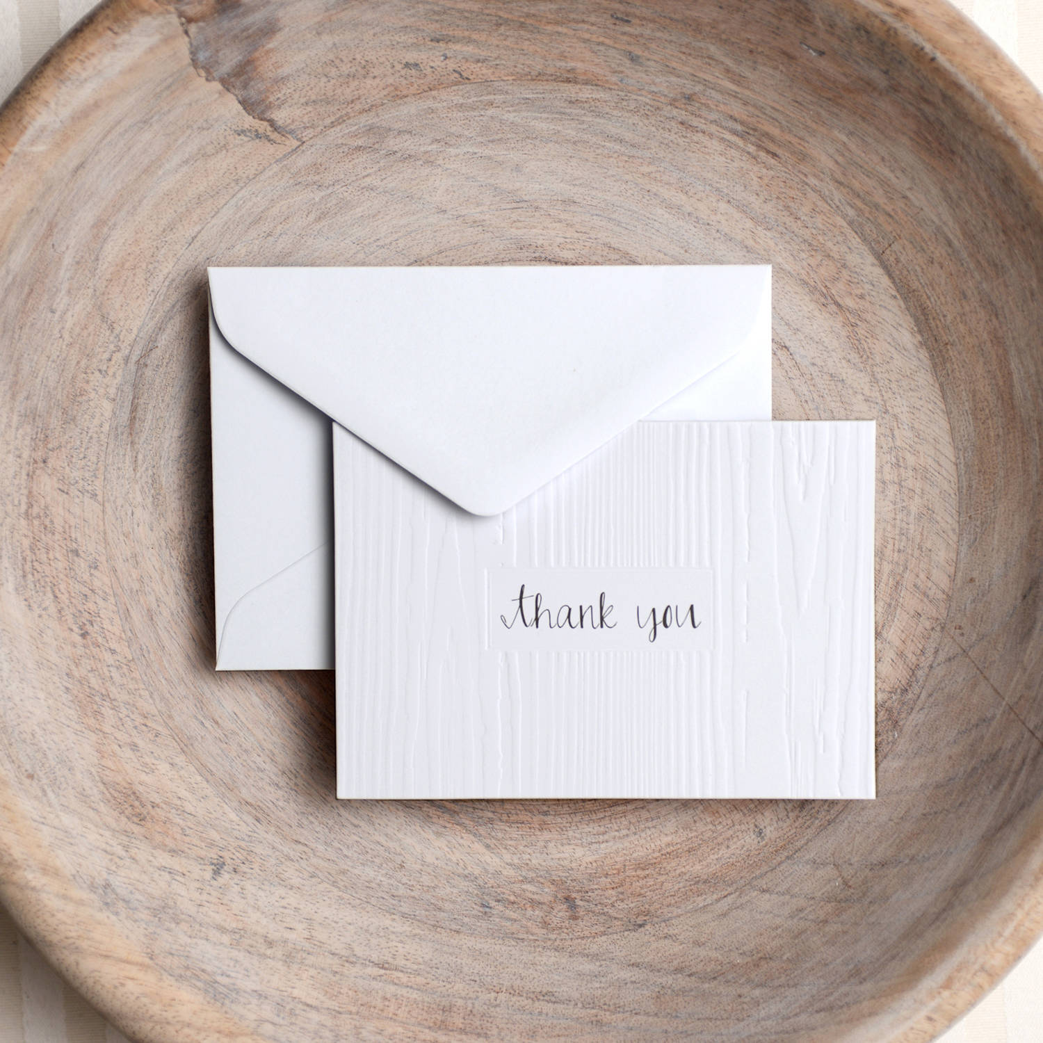 Woodgrain Thank You Cards
