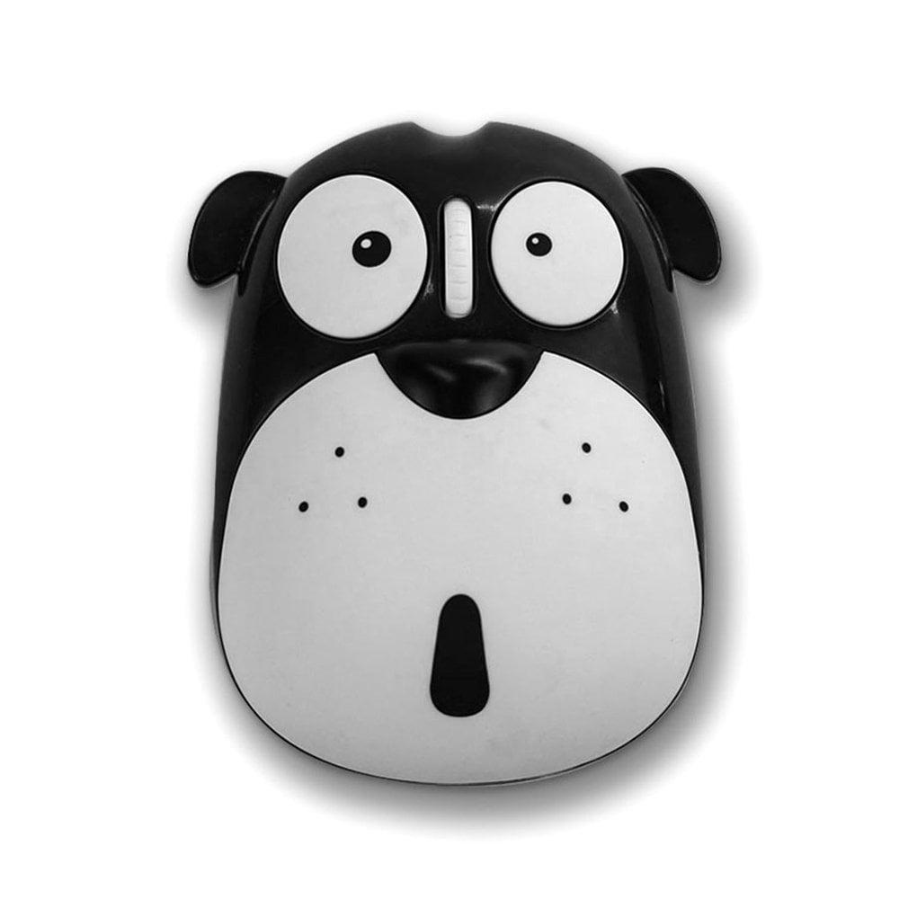 Cute Cartoon Dog Wireless Mute Mouse 1200DPI Energy Saving Ergonomic Optical Mice Universal Computer Mouse for Laptop PC