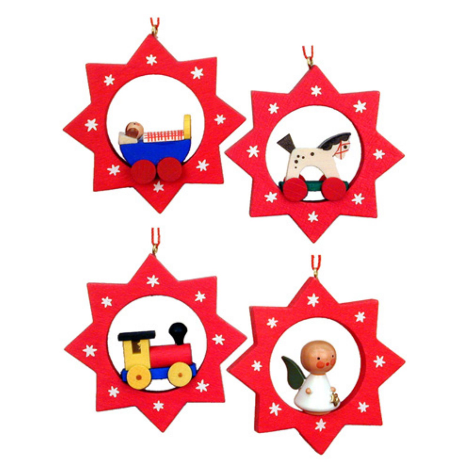 Christian Ulbricht 2.5 in. Assorted Stars Ornaments - Set of 6