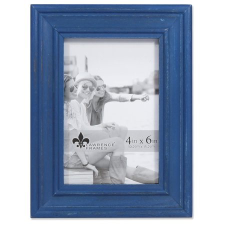 4x6 Durham Weathered Navy Blue Wood Picture -