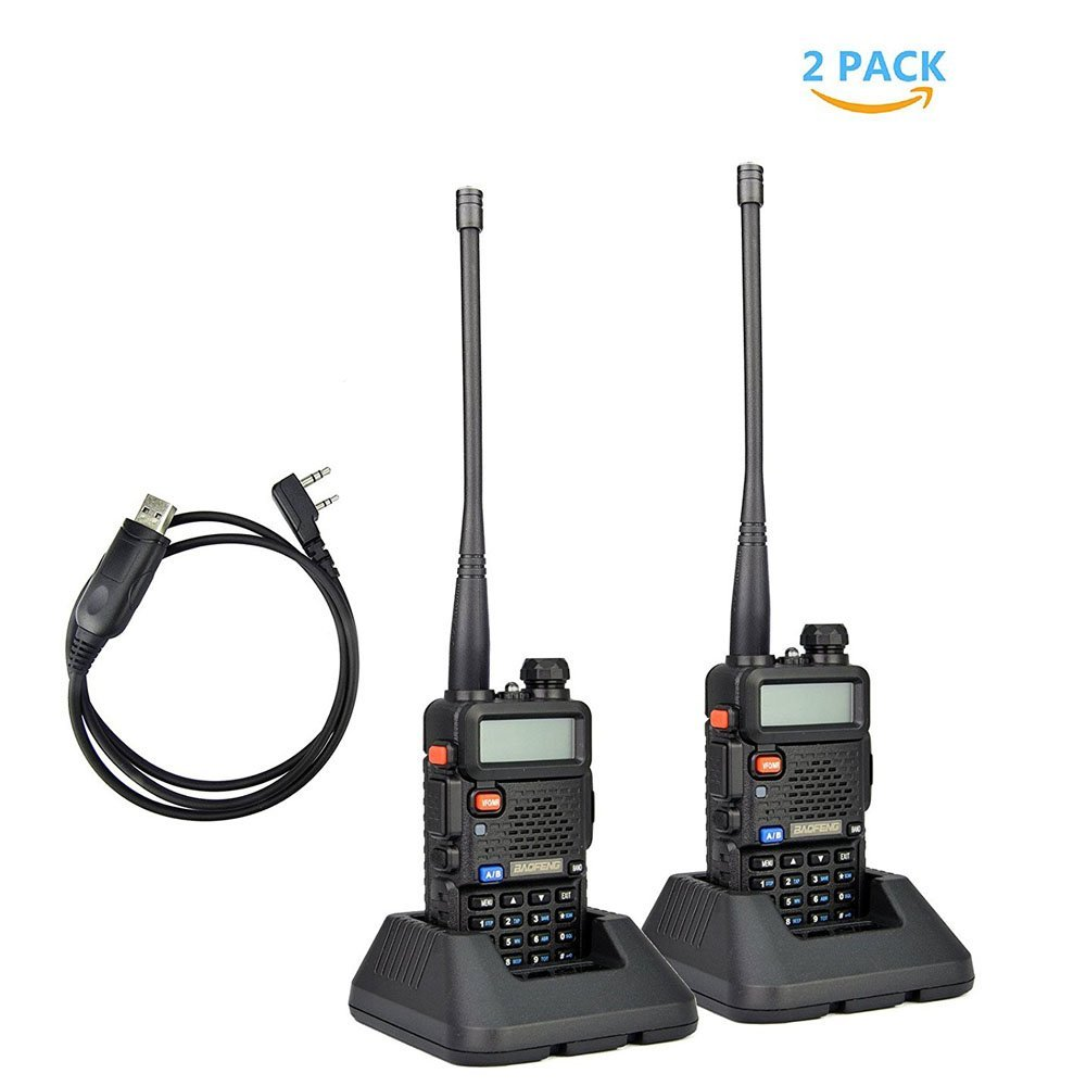 2Pack Baofeng UV_5R Dual_Band 136_174_400_480 MHz Ham Two...