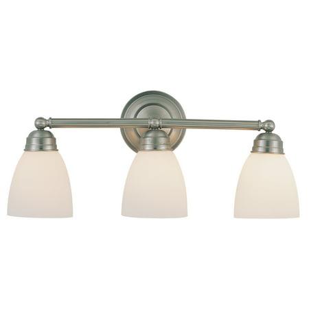 Bel Air Lighting CB-3357-BN 3 Light Brushed Nickel Bathroom Light Bar Bel Air Bathroom Light