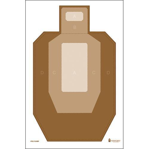 IPSC Paper Target w  Visible Scoring Zones Pack of 25 by