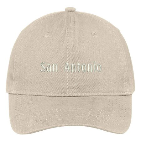 Trendy Apparel Shop San Antonio City Embroidered Low Profile 100% Cotton Adjustable Cap - Stone Croton Womens Quartz Stone